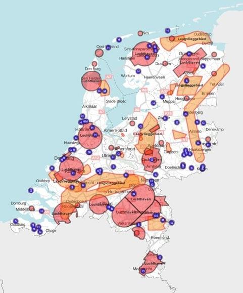 Nederlandse Drone regelgeving CTR kaart, noflyzone