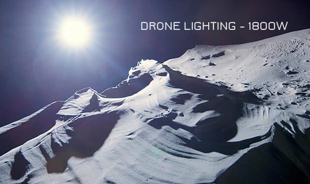 Drone lighting layover