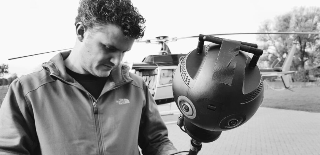 360 VR heli shoot Insta Pro 2
