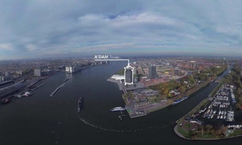 Amsterdam aerial 360 animation