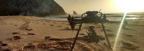 Drone on beach