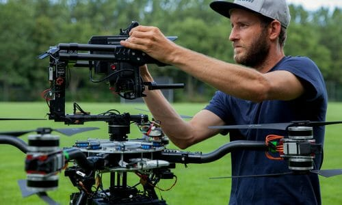 Drone opnames met ARRI Alexa Mini en RED camera